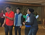 On set with co-star Alwyn Uytingco and director Mac Alejandre