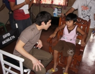 David chatting with co-star Byron Ortile during Nandito Ako shoot