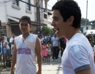 Basketball on the Nandito Ako set