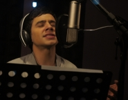 David in the recording studio
