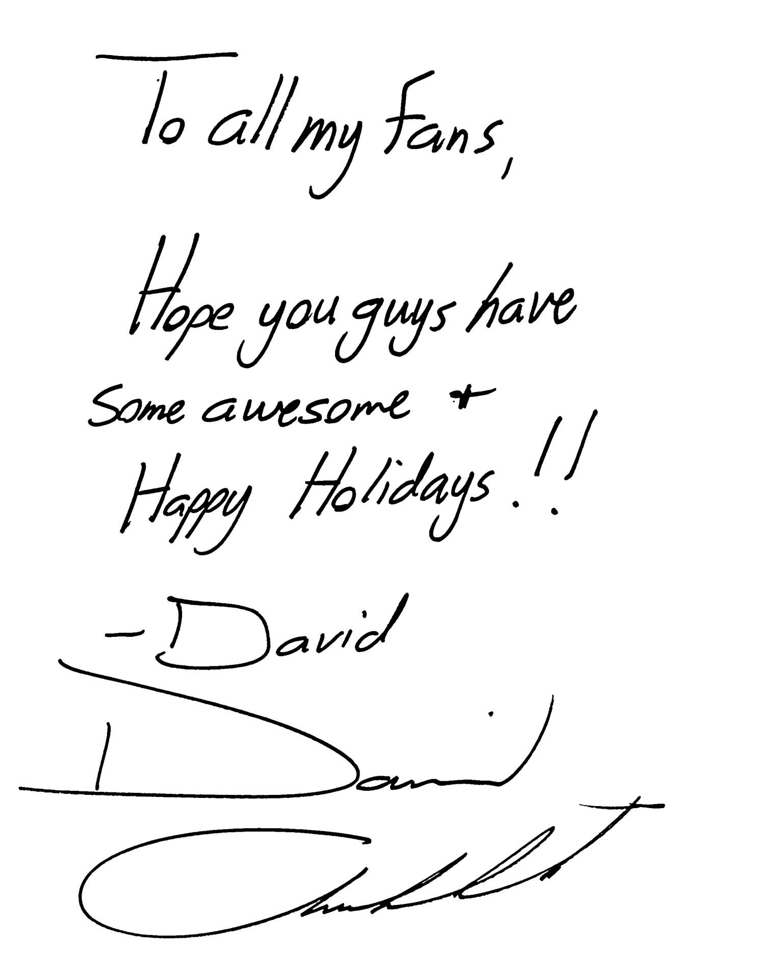 Davids Holiday Message David Archuleta