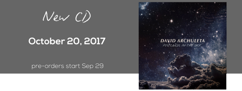 "Pre-order David Archuleta's ""Postcards in the Sky"" CD"