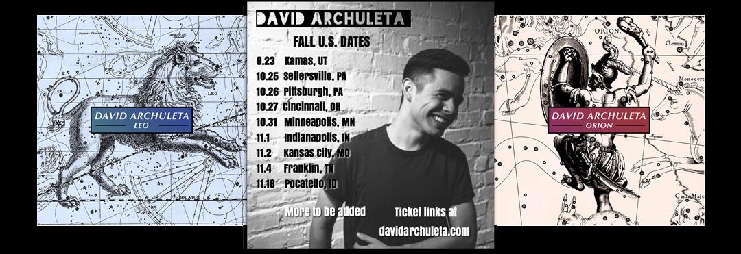 David Archuleta Announces New Fall US Tour Dates